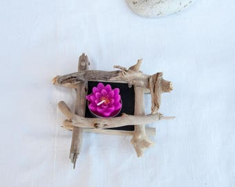 Lovely candle holder wood floated - ideal table decoration.