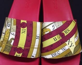 Adidas Slide Mens Hermes Custom Size 9.5 Red