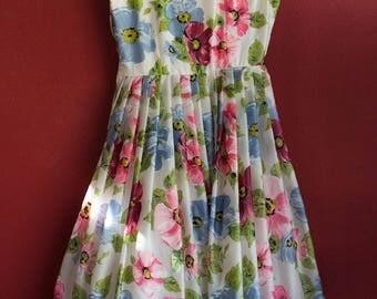 Original Vintage 50's dress with tulle pettycoat size Small