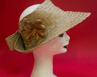 original vintage 60's straw Hat