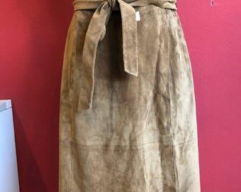 90's suede Max Mara skirt