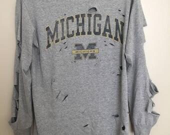 Distressed Michigan Shirt