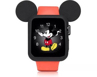 Apple Watch Case Mickey Mouse Ears 38mm 42mm Iwatch Case Disney Apple Watch Cover Disneyworld Series 3, Series 2 Series 1 Black