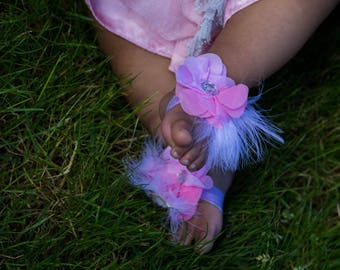 Feather barefoot infant sandals