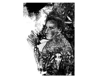 Print A4 ' MAD HATTER' | 300 g / m2 | Alice in Wonderland