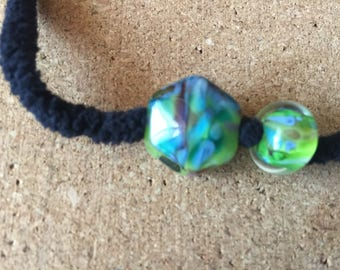Glow OOAK Lampwork glass bead set
