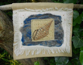 Original Mixed Media Wall Hanging' Natures Gift from the Sea'