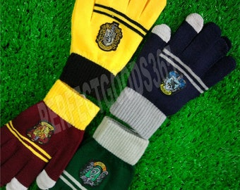 Harry Potter Gryffindor Slytherin Hufflepuff Ravenclaw Hand Gloves Winter Cosplay