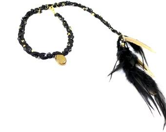 Golden Aura Quartz Headband