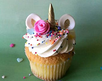 12 sets Unicorn Cupcake Topper