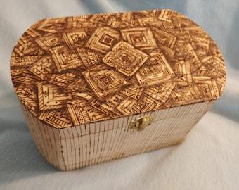 Pyrography Wooden Box