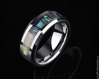 Tungsten Carbide Rings Inlay Shells 8mm