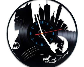 Night Hero vinyl record wall clock, nice home decor, best gift idea