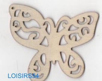 Butterfly wood 65 mm x 40 mm blank