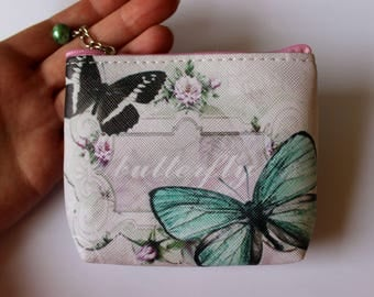 Zip Pouch, Zip Purse, Cosmetic Purse, Make-up Purse, Butterfly Purse, Coin Purse, Coin Pouch, Butterfly Accessory, Baby Gift, Women's Gift