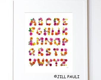 Flower Alphabet Wall Art Part 21