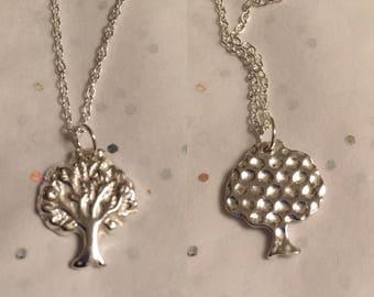 Fine silver Tree of life pendant - reversible