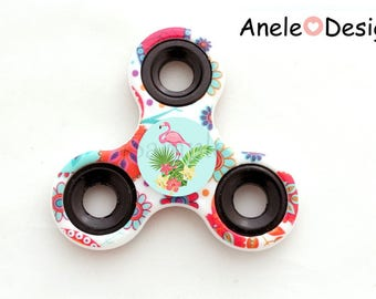 Spinner Hand Spinner - Flamingo Pink - red blue cabochon trendy kids school