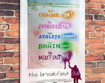 Movie Posters for The Breakfast club Art Print on Canvas Home Wall Decor