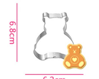 Bear Cookie Cutter- Fondant Biscuit Mold - Pastry Baking Tool Set