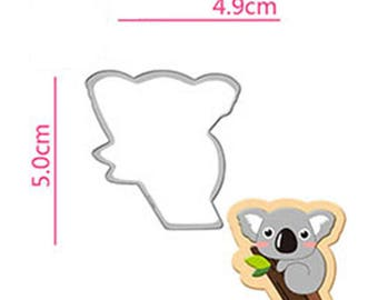 Koala Cookie Cutter - Animal Fondant Biscuit Mold - Pastry Baking Tool Set