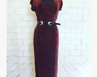 M Vintage burnt orange slingy dress