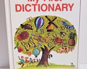 Vintage My First Dictionary Bennett Kids Childrens Homeschool