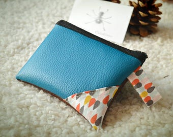 Faux leather wallet