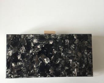 Plexiglass plexiglass clutch, grey grey clutch bag