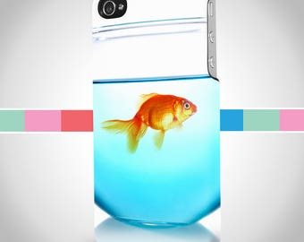 Gold fish iPhone case, iPhone gold fish case, iPhone 8, iPhone 7, iPhone 6, iPhone 7 plus, iPhone 6 plus, Samsung Galaxy S8, Note 8, S7, S6