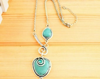 Turquoise Necklace ~ Statement Piece ~ Chunky Necklace