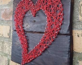 Gothic string art Love Heart