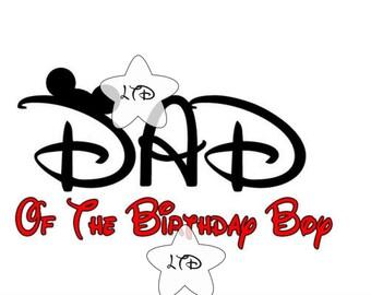 Dad Of The Birthday Boy Iron On Transfer