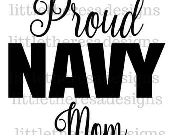Proud Navy Mom Transfer,Digital Transfer,Digital Iron Ons, DIY