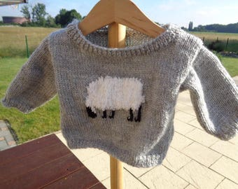 sweater 3 month boys grey acrylic