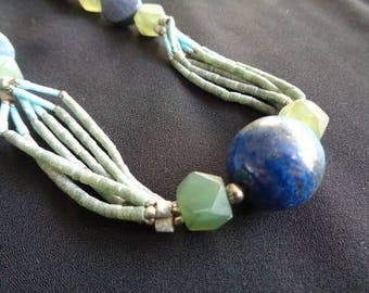 Tribal Vintage Semi Precious Stone Necklace  (BB-NL-102)