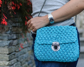 Handmade authentic knitted bag