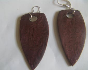 Cernit mica shift earrings