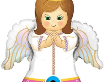 Angel balloon girl or boy first communion, party decorations, baby shower