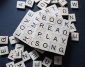 Personalized Scrabble Coasters - Set of 4 - Pick your words or random