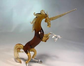 Unicorn Handmade glass figurine