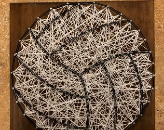 Volleyball String Art