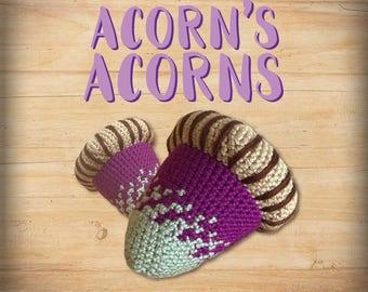 Acorn's Premium Crocheted Acorns [ Purple & Seafoam ]