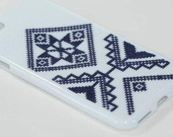 Embroidered cross stitch iPhone Case | embroidery iphone 6 case | embroidery iphone 5 case
