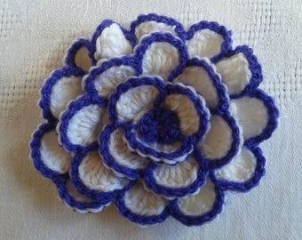 handmade crochet large flower in wool