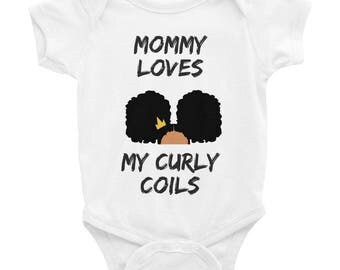 Mommy Loves My Curly Coils' Infant Bodysuit