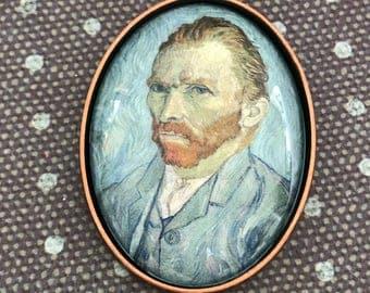 Van Gogh Pendant, Van Gogh Necklace, Pendant, Necklace, Van Gogh, Vincent Van Gogh, Van Gogh Jewelry, Art Pendant, Self Portrait, Portrait