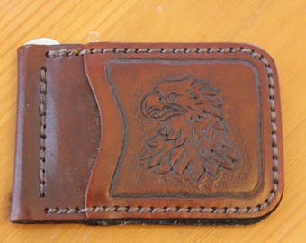 Hand Made Leather Money Clip