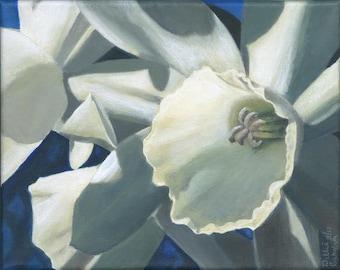 Original White Daffodils Acrylic Painting