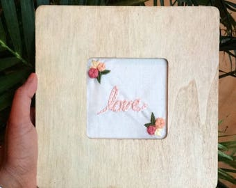 Framed Love Embroidery